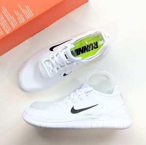 Nike Free RN 2018 White/Black Women's 10.5